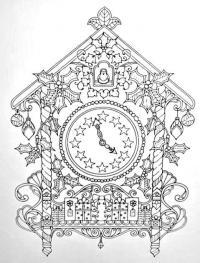 Настенные часы с кукушкой Раскраски для взрослых антистресс