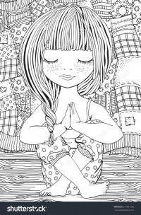 Девочка отдыхает Раскраски для взрослых антистресс
