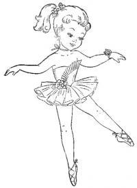 Маленькая балерина танцует Раскраски для взрослых антистресс