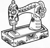 Швейная машинка в узорах Раскраски для взрослых антистресс
