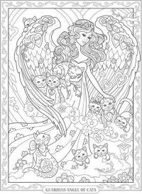 Ангел и котята Раскраски для взрослых антистресс
