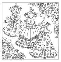Три платья на выбор Раскраски для взрослых антистресс