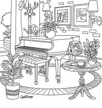 Комната в стиле антистресс Раскраски для взрослых антистресс