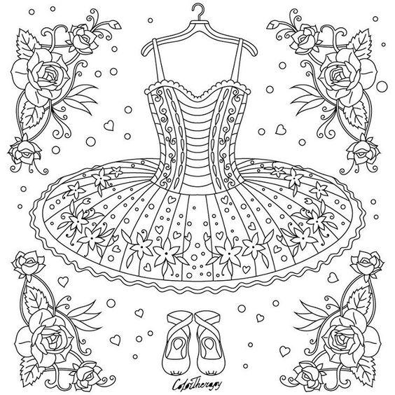 Платье на вешалке Раскраски для взрослых скачать