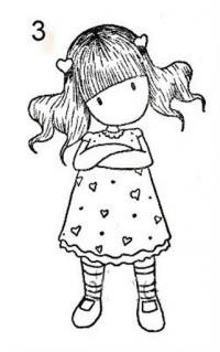 Девочка в платье Раскраски для взрослых скачать