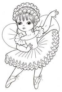 Маленькая балерина Раскраски для взрослых антистресс