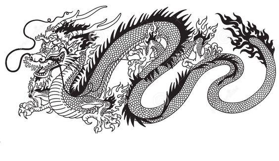 Огромный китайский извивающийся дракон Раскраски для взрослых скачать