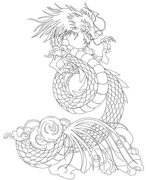 Злой дракон атакует Раскраски для взрослых скачать