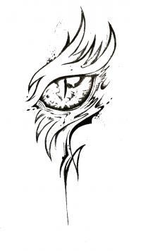Глаз дракона Картинки антистресс раскраски