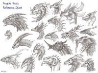 Головы драконов для ознакомления Раскраски для взрослых скачать