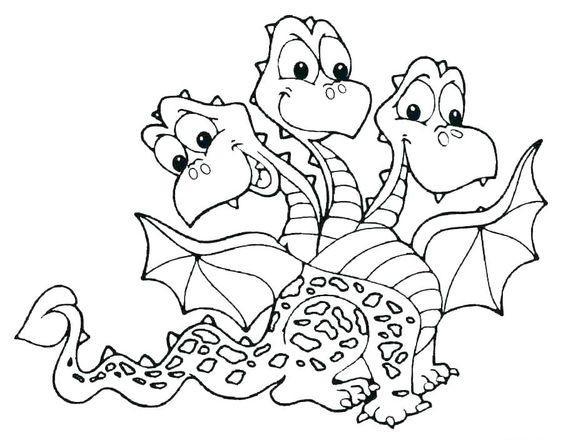 Трехголовый дракон Раскраски для взрослых скачать