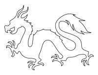 Контур дракона Раскраски для взрослых скачать