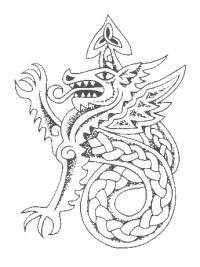 Кельтский дракон Раскраски для взрослых скачать