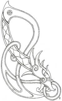 Кельтский дракон Картинки антистресс раскраски