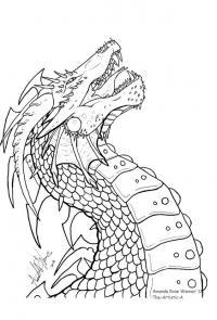 Голова дракона Картинки антистресс раскраски