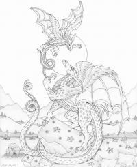 Война драконов Картинки антистресс раскраски