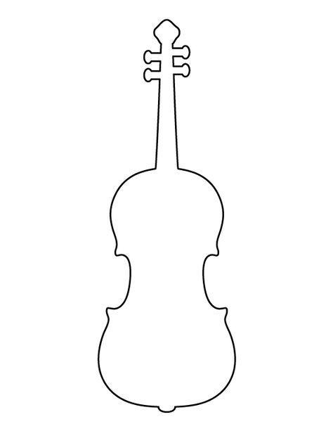 Контур скрипки Раскраски для взрослых скачать