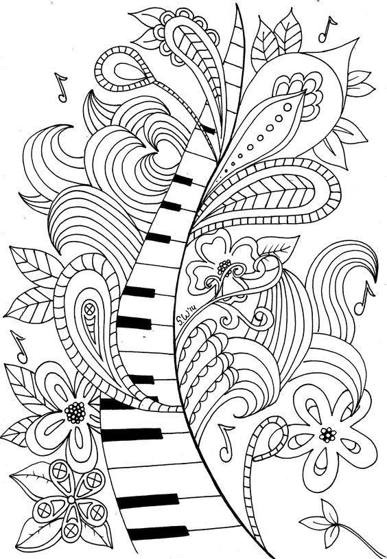Лента из клавиш Раскраски антистресс а4