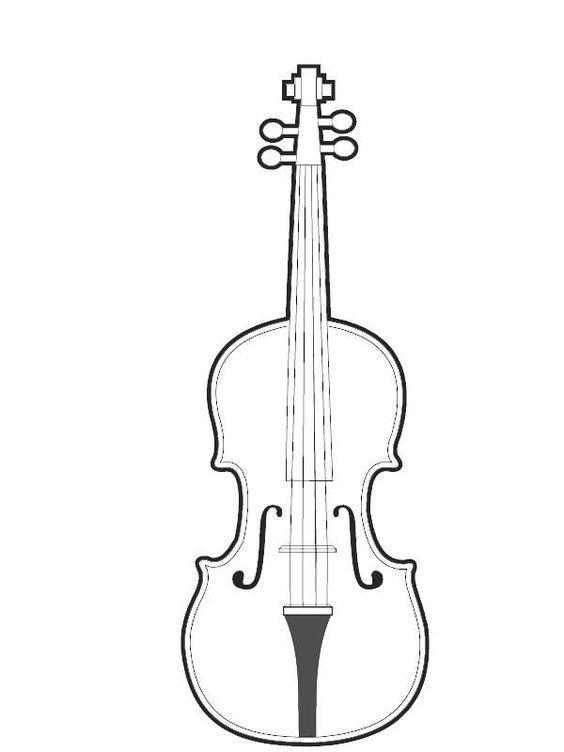 Скрипка Раскраски для взрослых скачать
