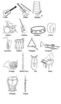 Мкзыкальные инструменты Раскраски антистресс а4