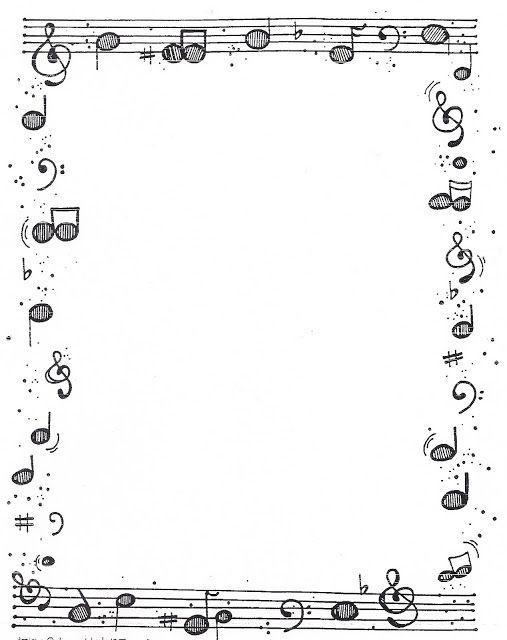 Рамка с нотами Раскраски антистресс а4