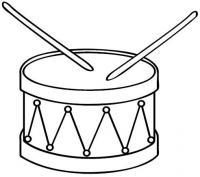 Барабан и барабанные палочки Раскраски антистресс а4