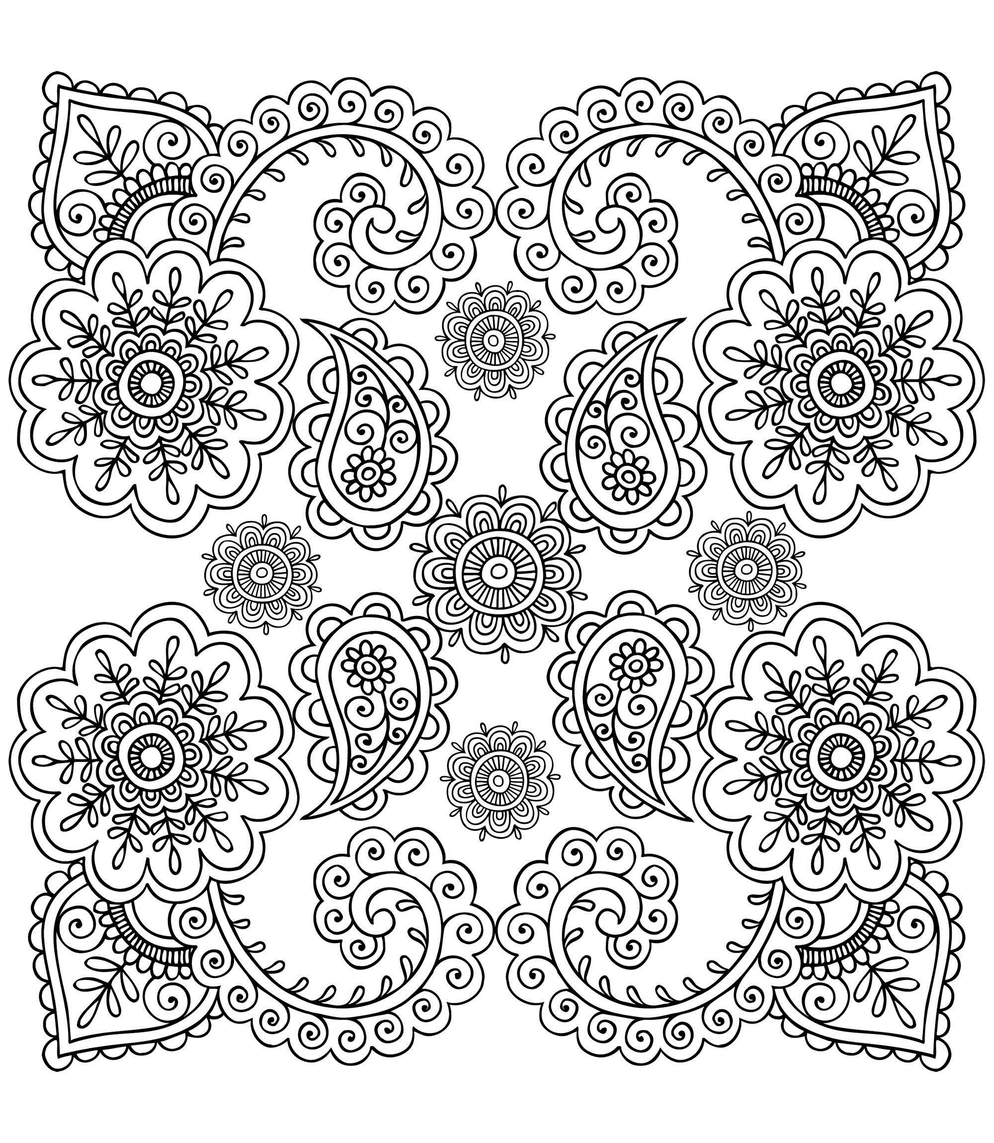 Скатерть с узорами Раскраски для медитации
