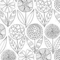 Цветы красивые Раскраски для медитации