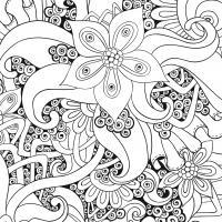 Мир сказочных цветов Картинки антистресс раскраски