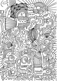 Абстрактно Картинки антистресс раскраски