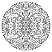 Сложный узор диск Картинки антистресс раскраски