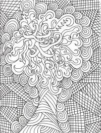 Чудо дерево Картинки антистресс раскраски