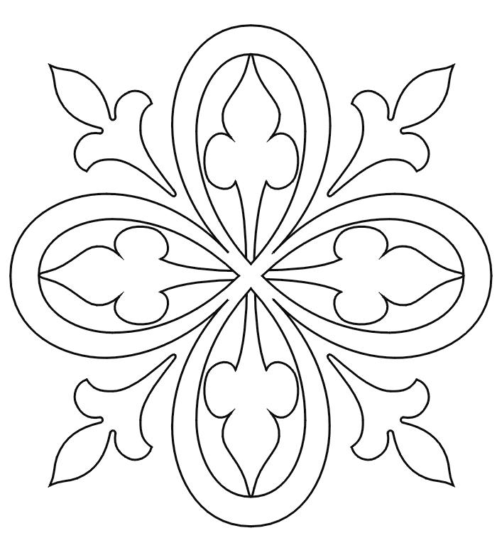 Простой цветок Раскраски антистресс а4