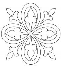 Простой цветок Картинки антистресс раскраски