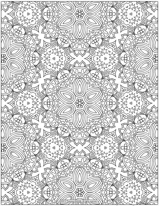 Цветы много Раскраски для медитации