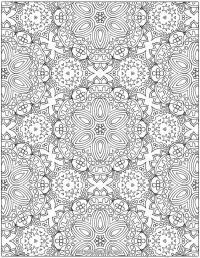 Цветы много Картинки антистресс раскраски