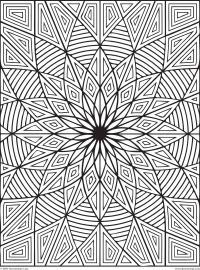 Цветок геометрия Картинки антистресс раскраски