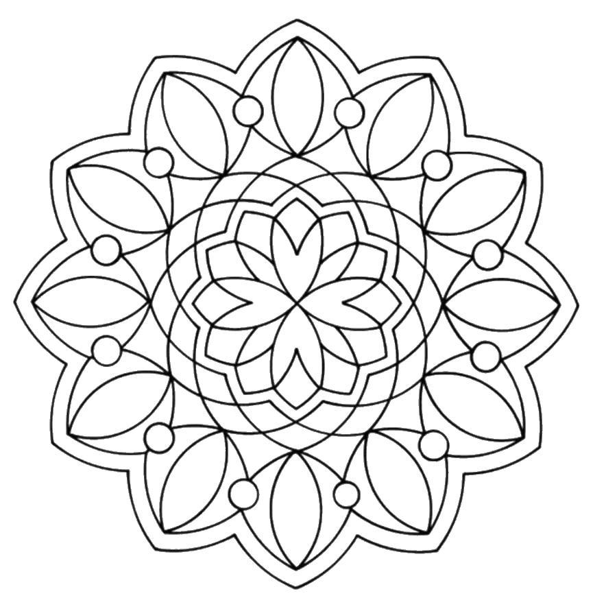 Цветок Картинки антистресс раскраски