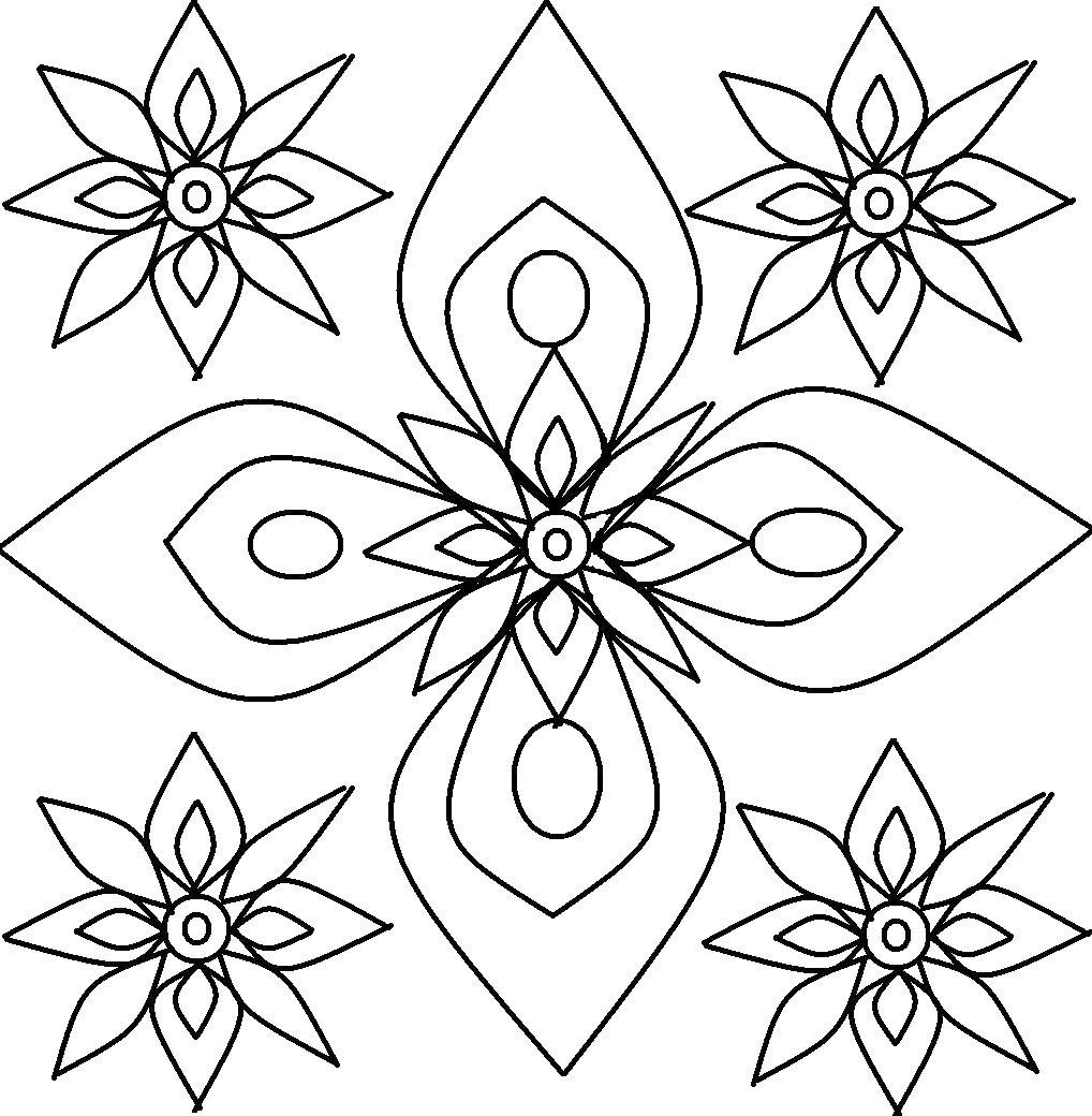 Цветочки Раскраски антистресс распечатать
