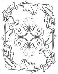 Декор из цветов Раскраски антистресс распечатать