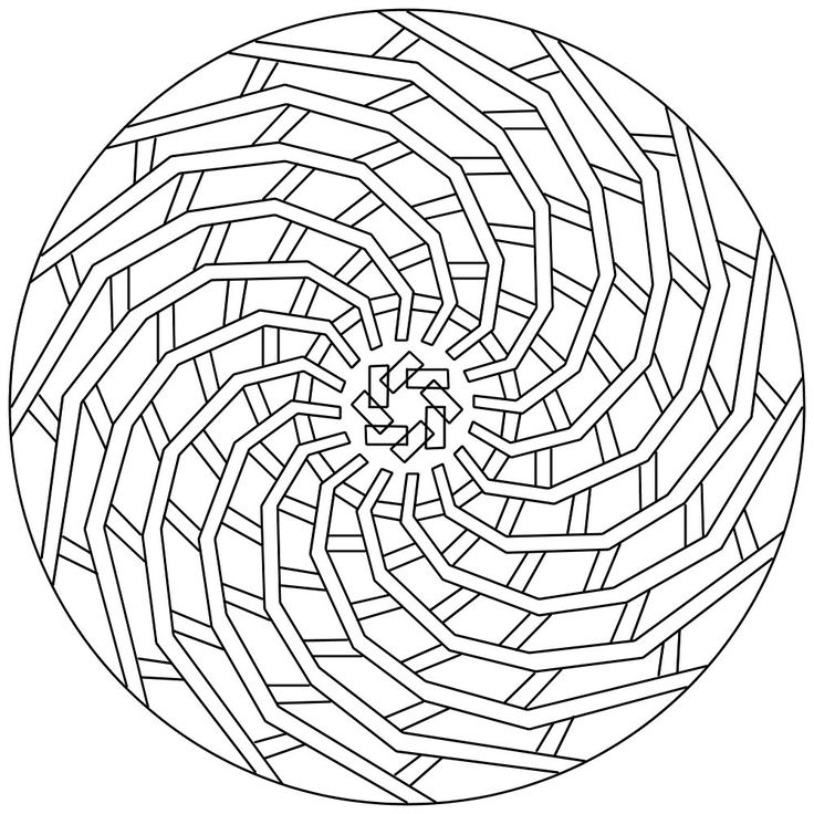 Спиралька Раскраски антистресс а4