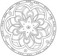 Узор цветок в круге Онлайн раскраски в хорошем качестве антистресс