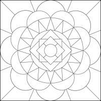 Простой узор геометрия полукруг Онлайн раскраски в хорошем качестве антистресс