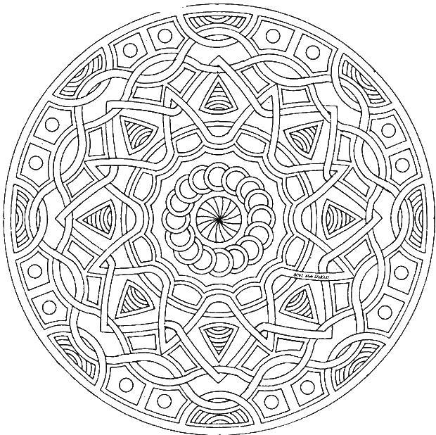 Сложный узор Раскраски для медитации