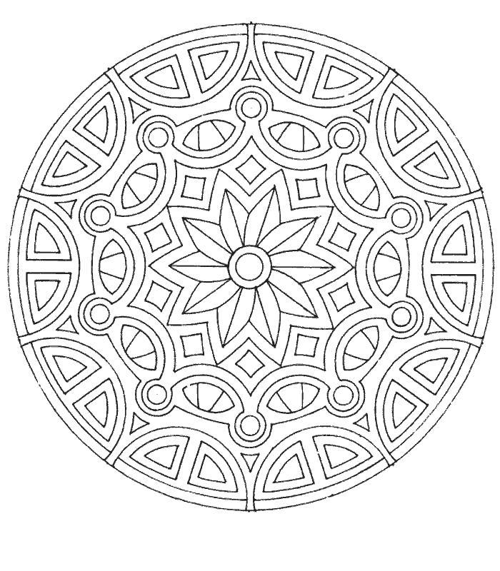 В круге Скачать сложные раскраски