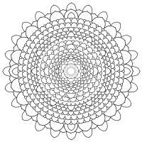 Много деталей цветок Скачать сложные раскраски