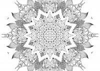 Огромный сложный цветок Скачать сложные раскраски