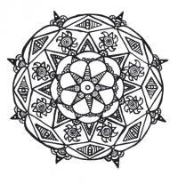 Узор круг Раскраски для медитации