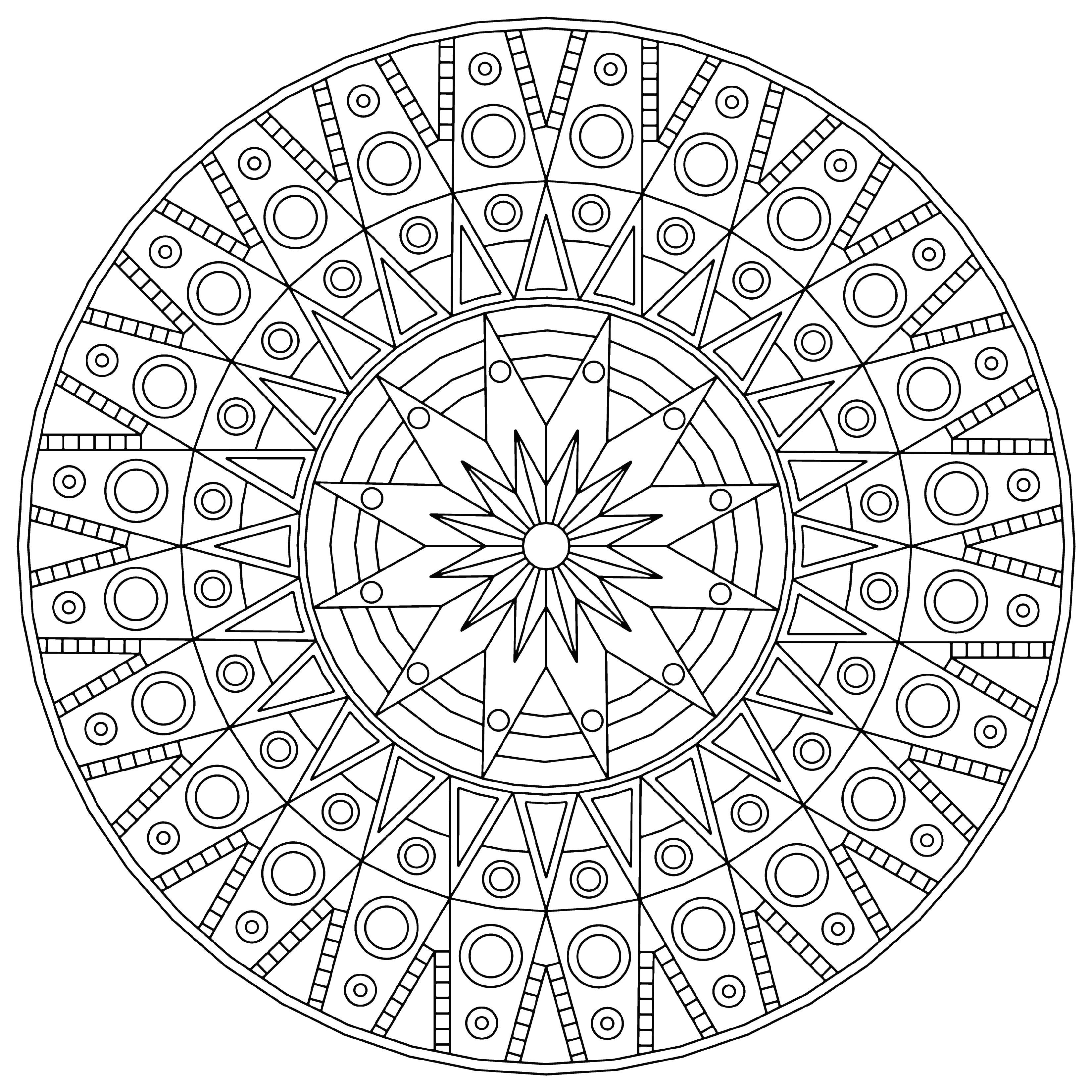 Геометрический узор Скачать сложные раскраски