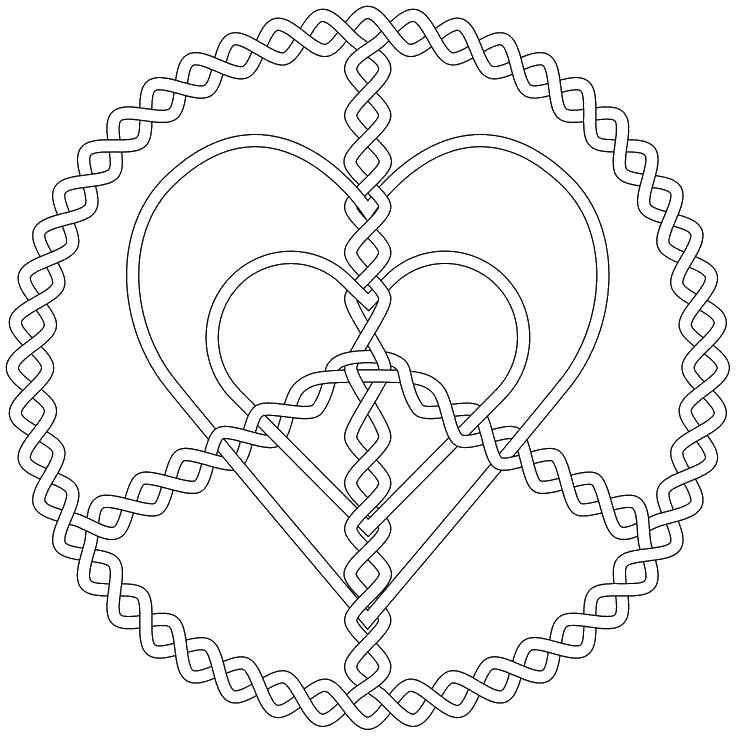 Мир и любовь Онлайн раскраски в хорошем качестве антистресс